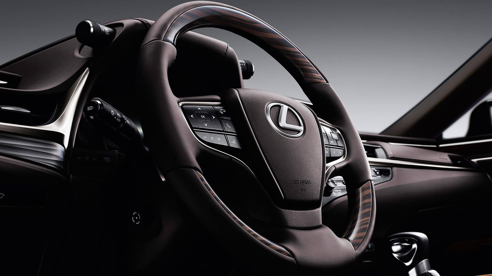 2019 lexus es hybrid experience feature leather steering wheel