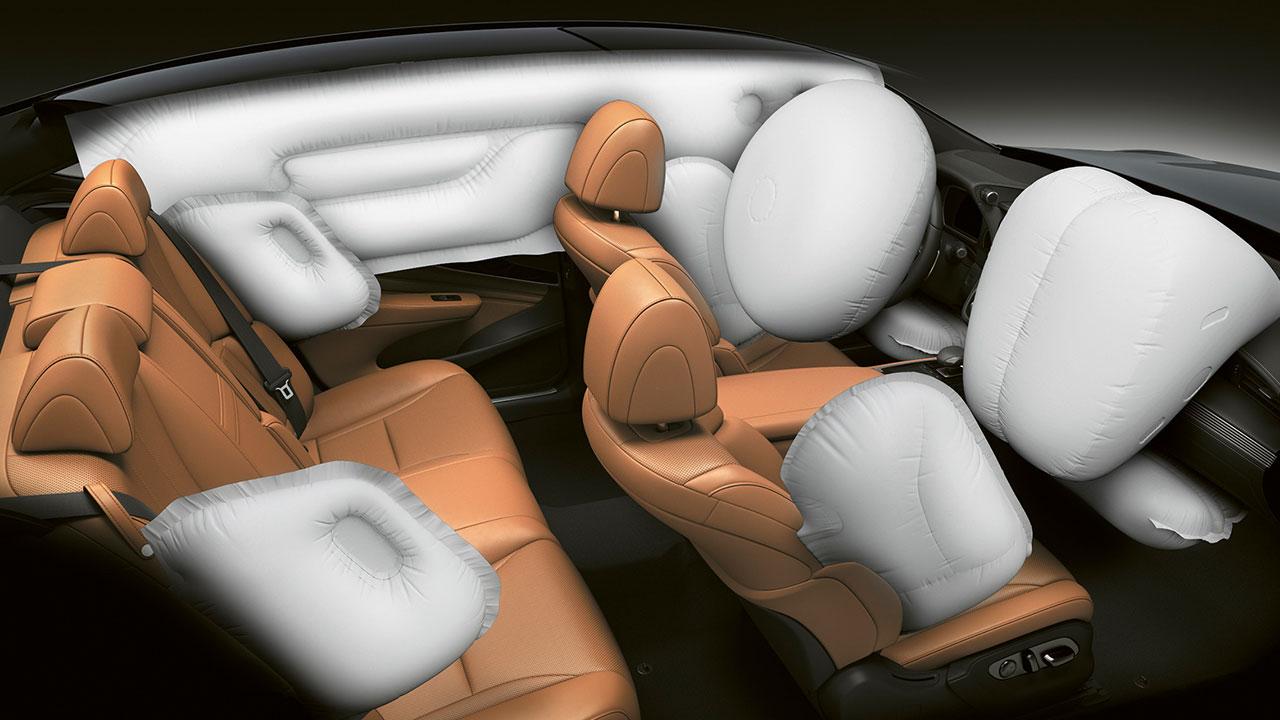 2020 lexus ls experience twelve airbags