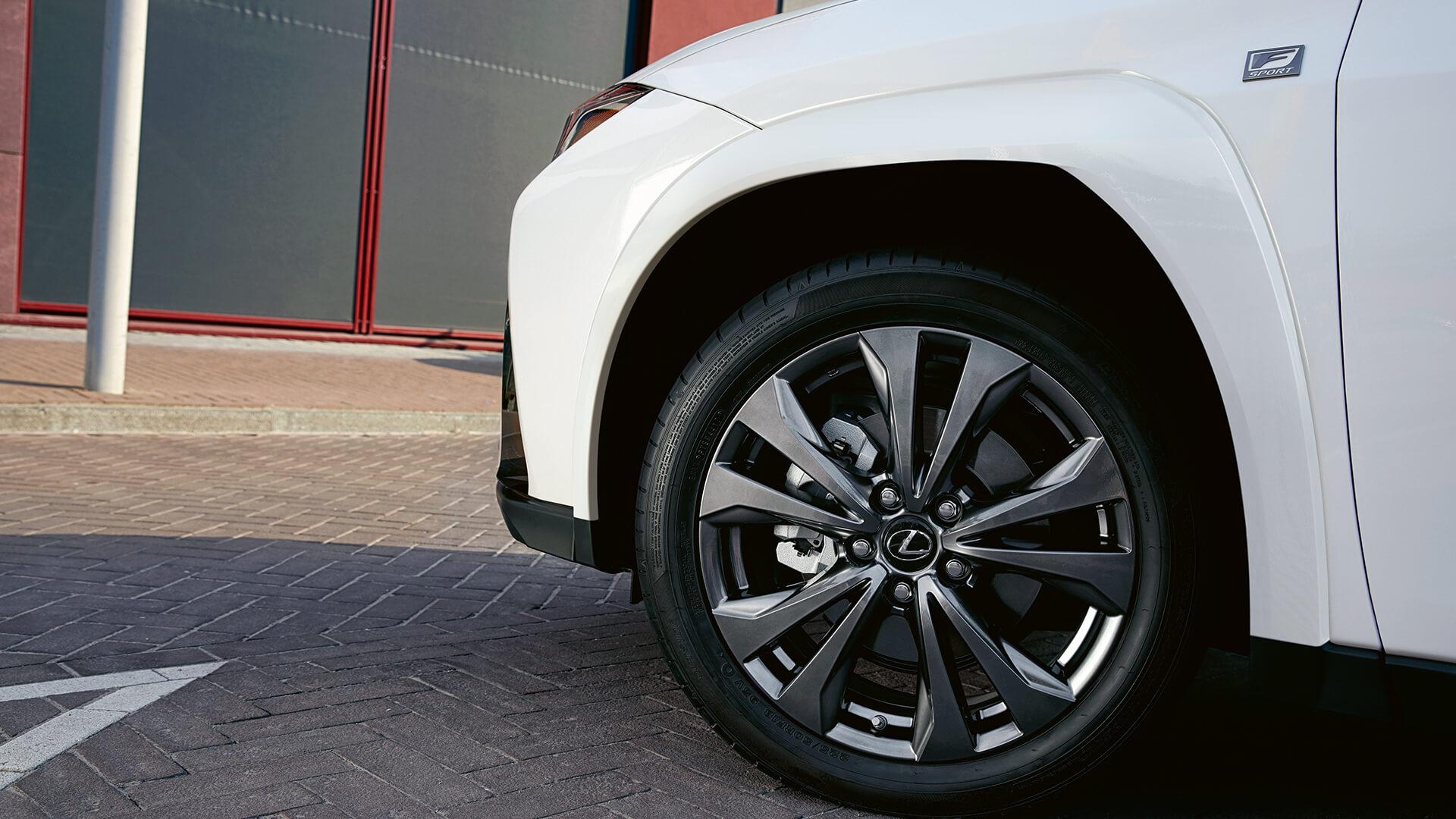 2022 lexus ux experience hotspot stabilising wheel arch
