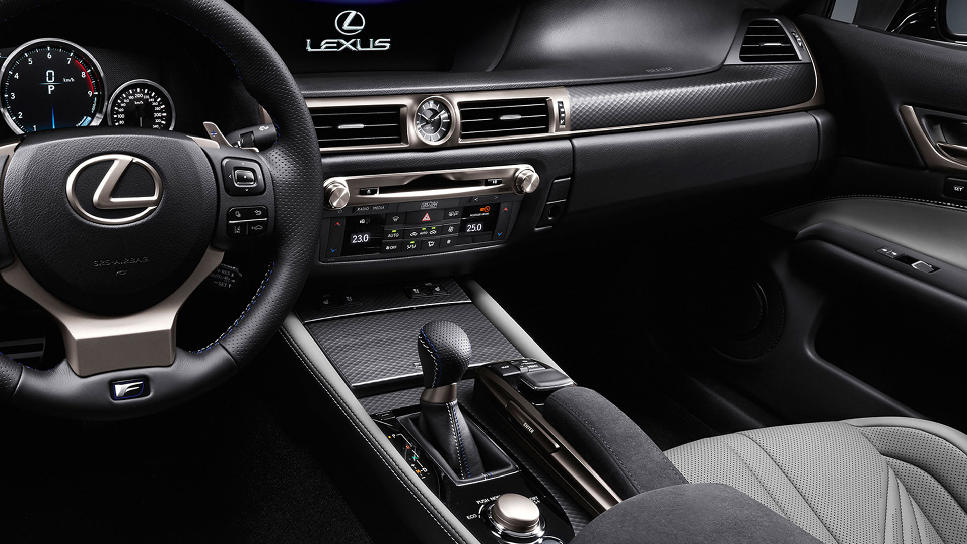 2017 lexus gs f features 3 zone climate control