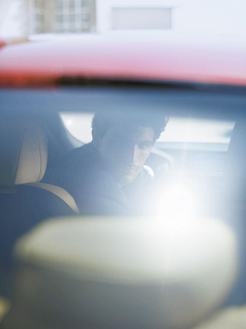 Lexus RC Mann in Auto