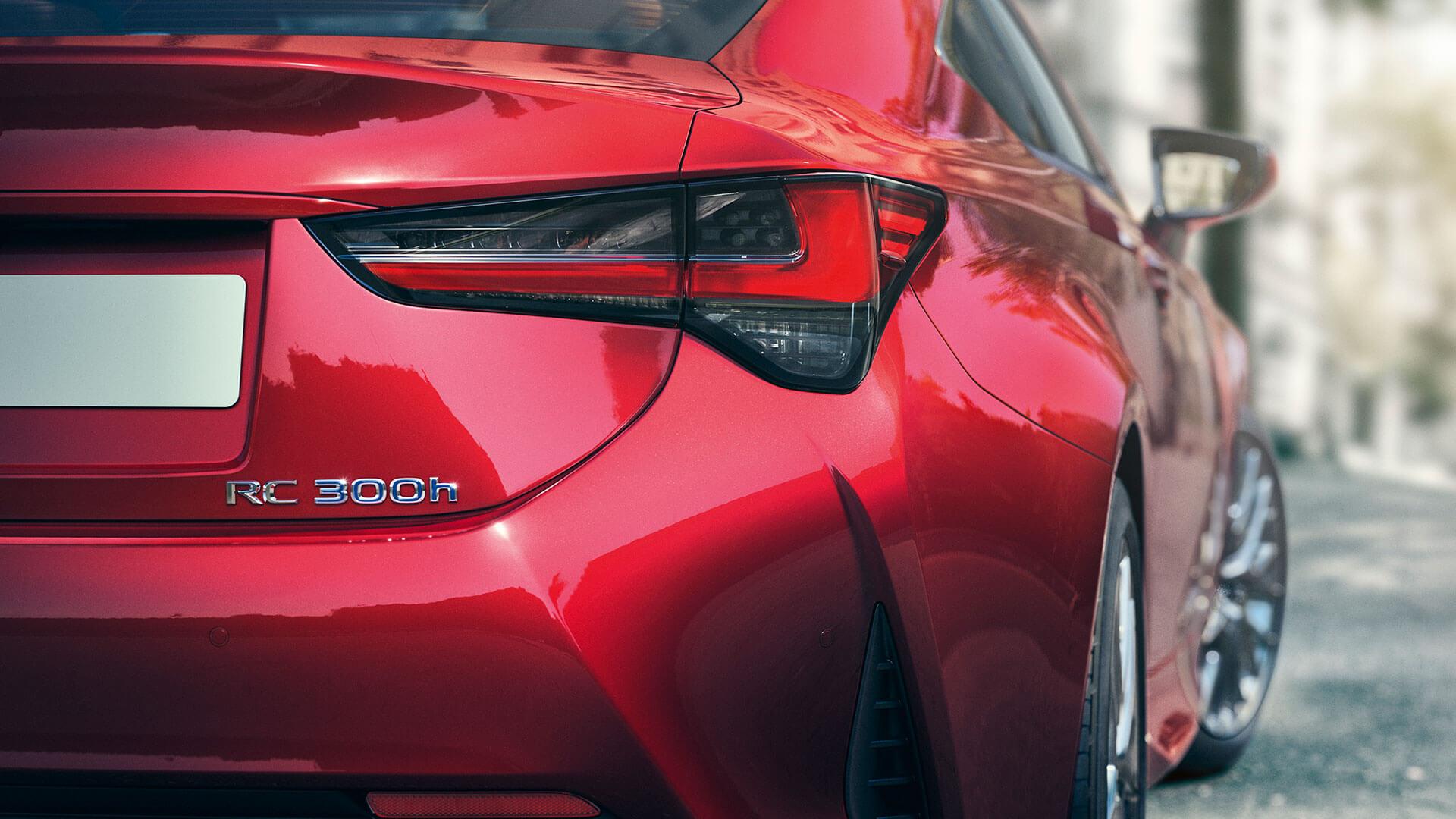 Lexus RC rot hinten Rücklicht
