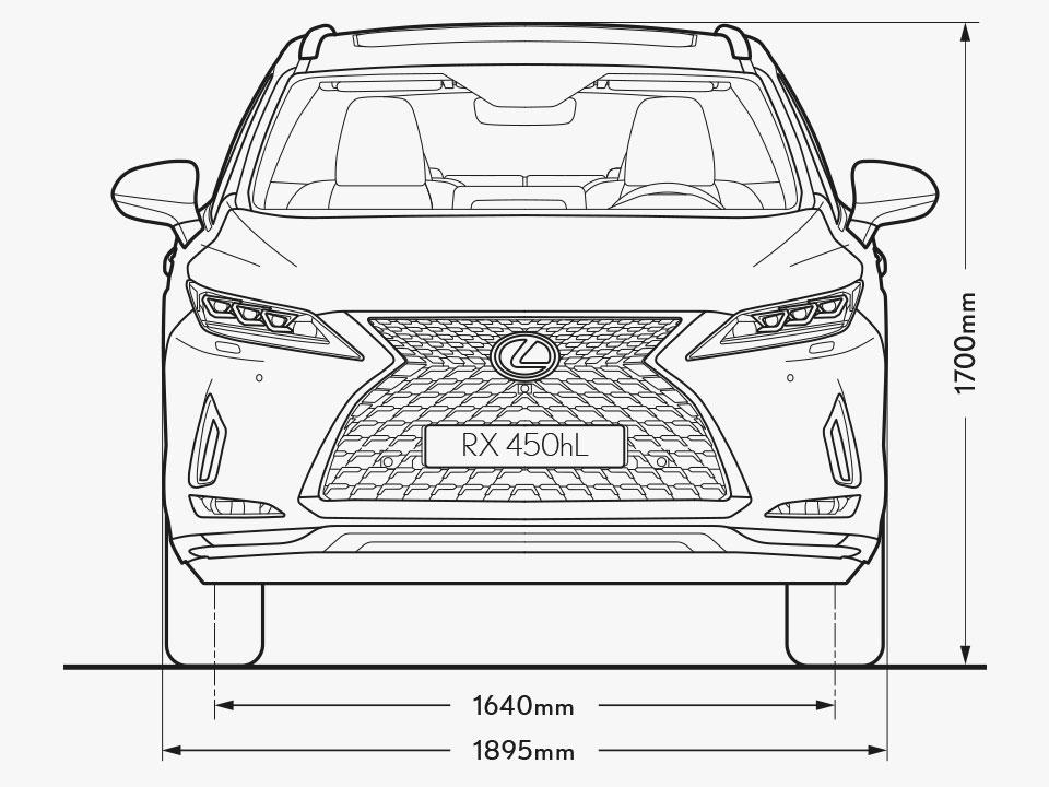 2021 lexus rx l grades and specs dimensions front