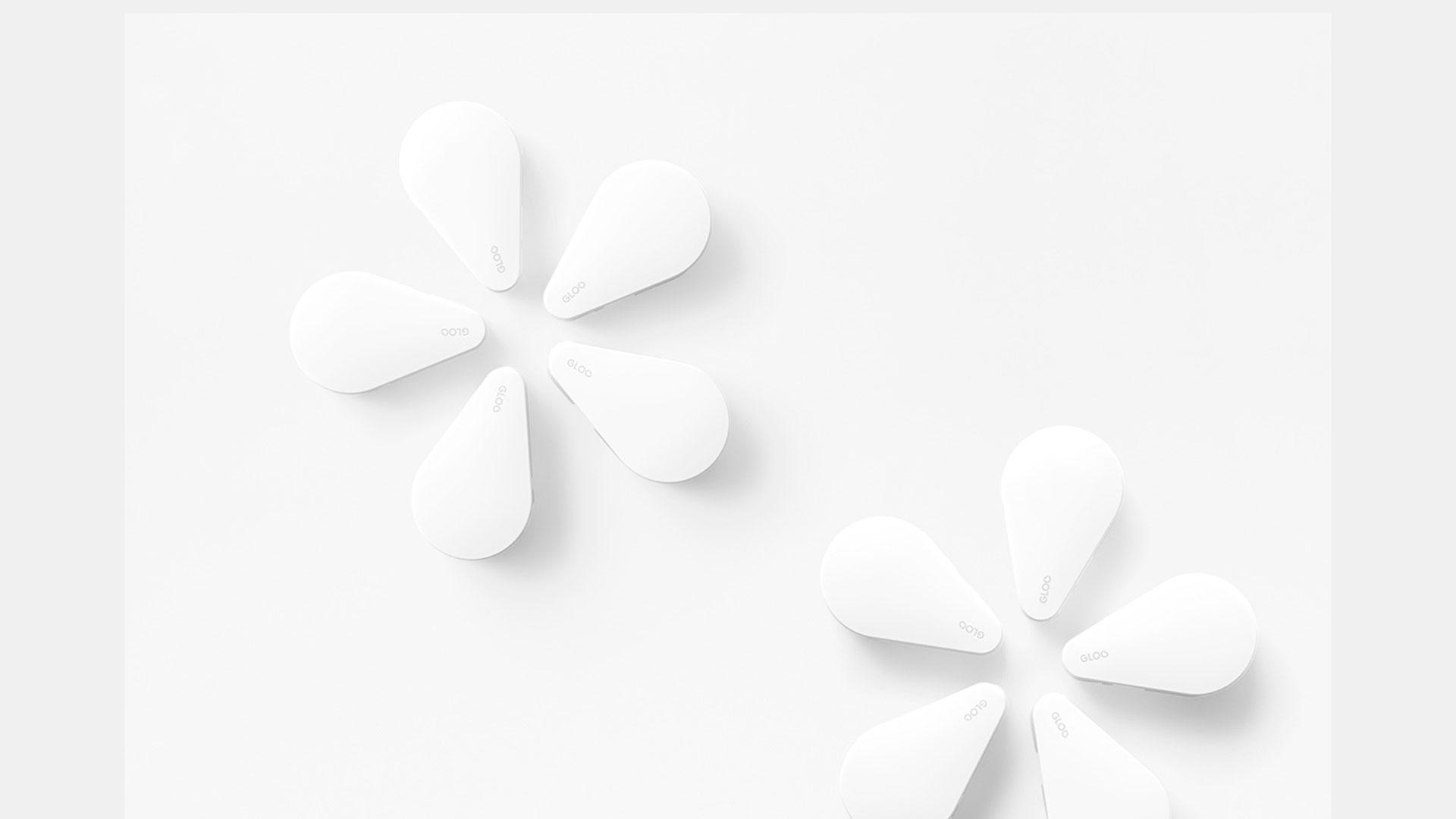Imagen de la línea minimalista de productos adhesivos Gloo