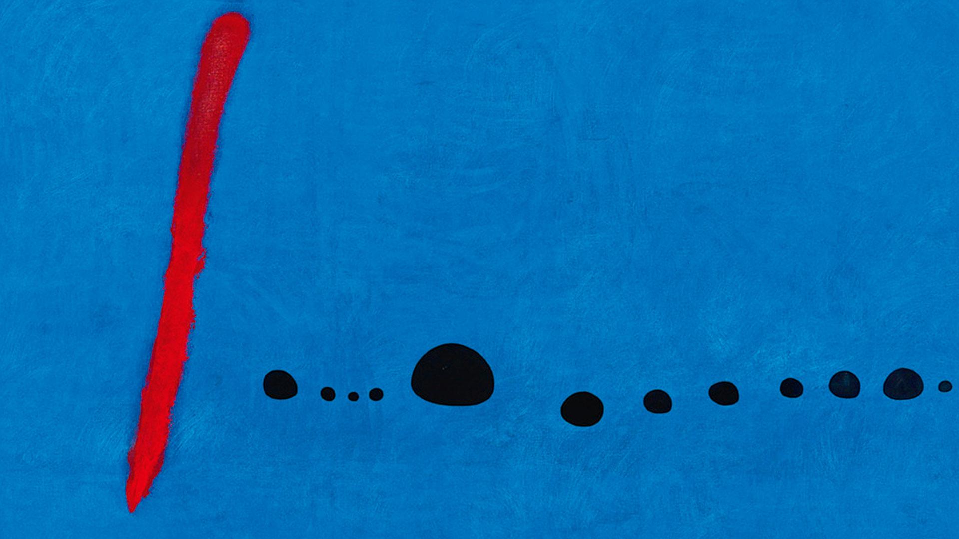 Pintura de Joan Miró expuesta en el Grand Palais de París