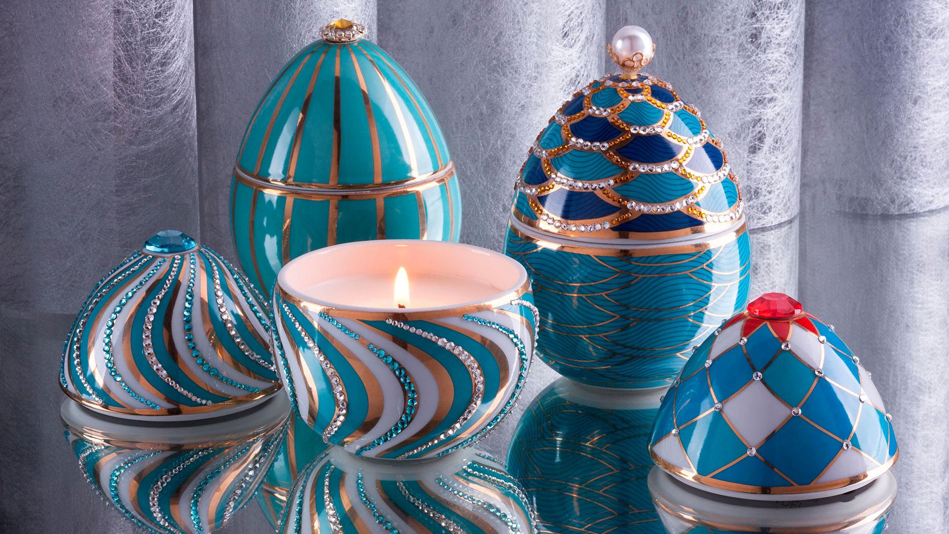 Imagen de la colección de velas Fabergé de Ladenac