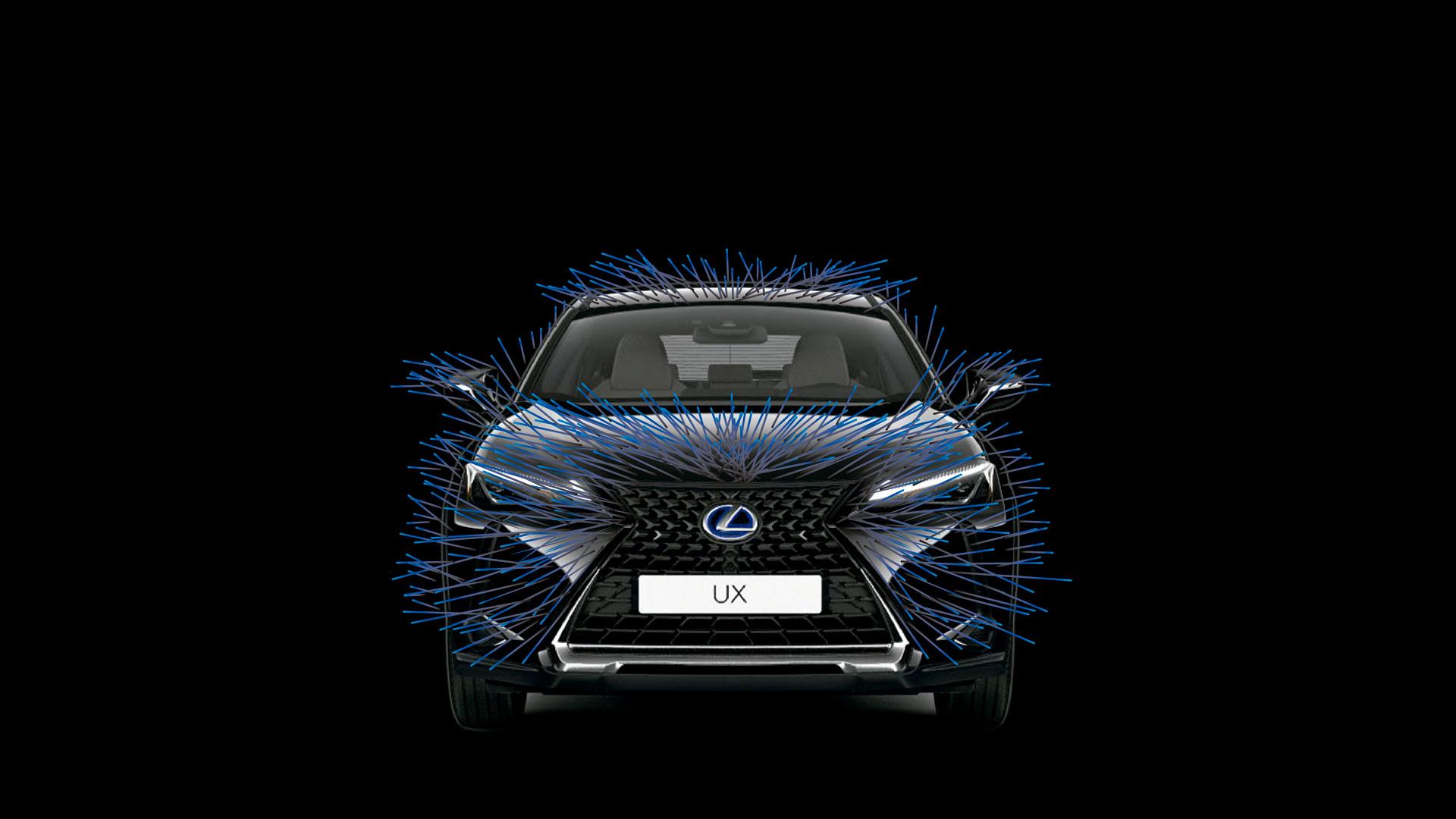 Diseño realizado por Ana Soler Baena para el concurso Lexus UX Art Car