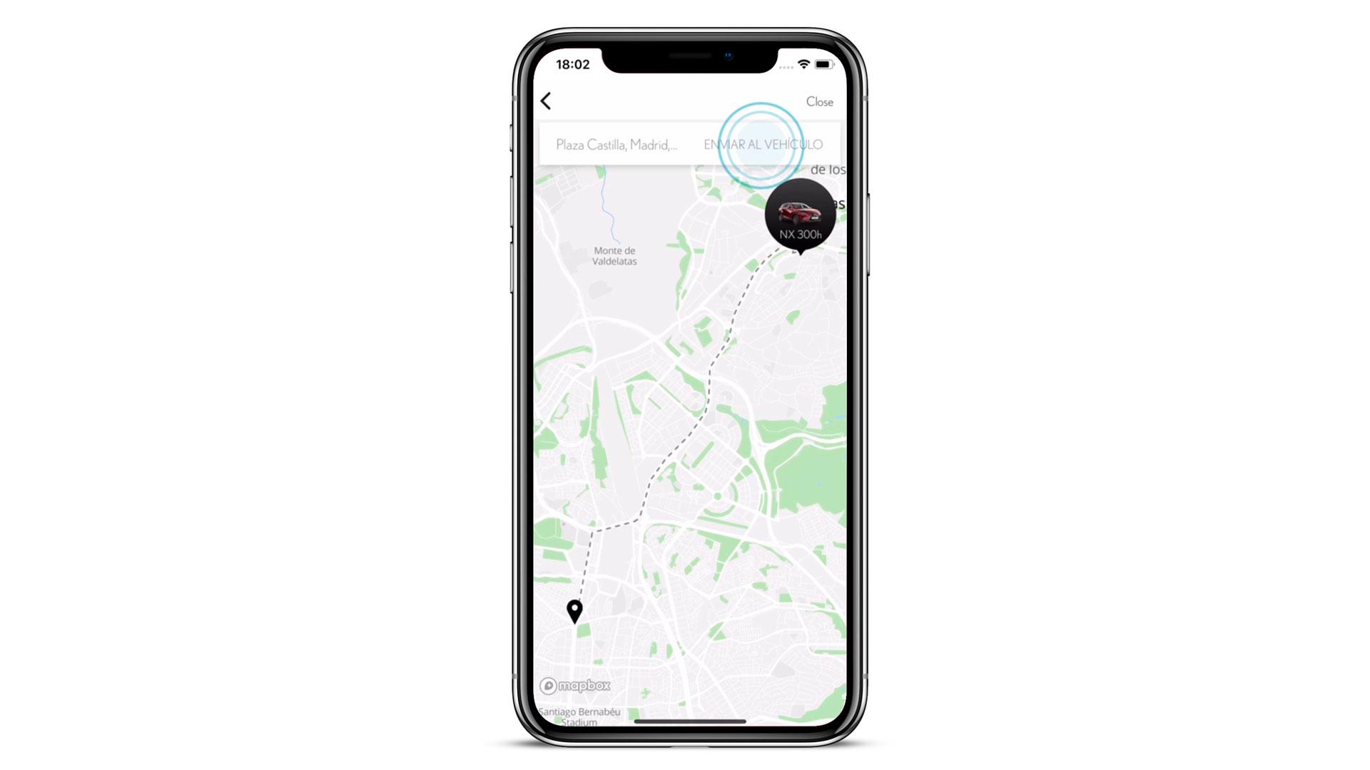 Capturas de pantalla de la aplicación Lexus Link