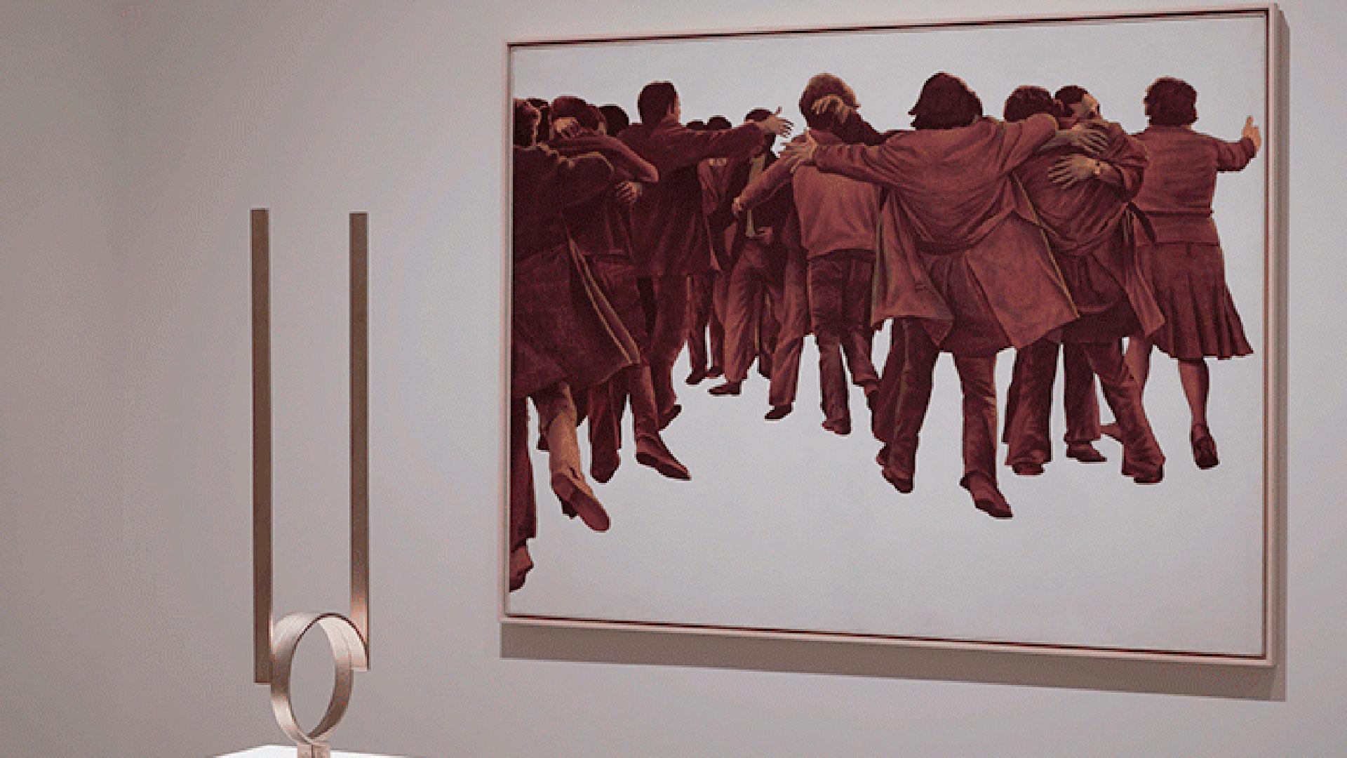 Imágenes de la exposición de Poéticas de la democracia