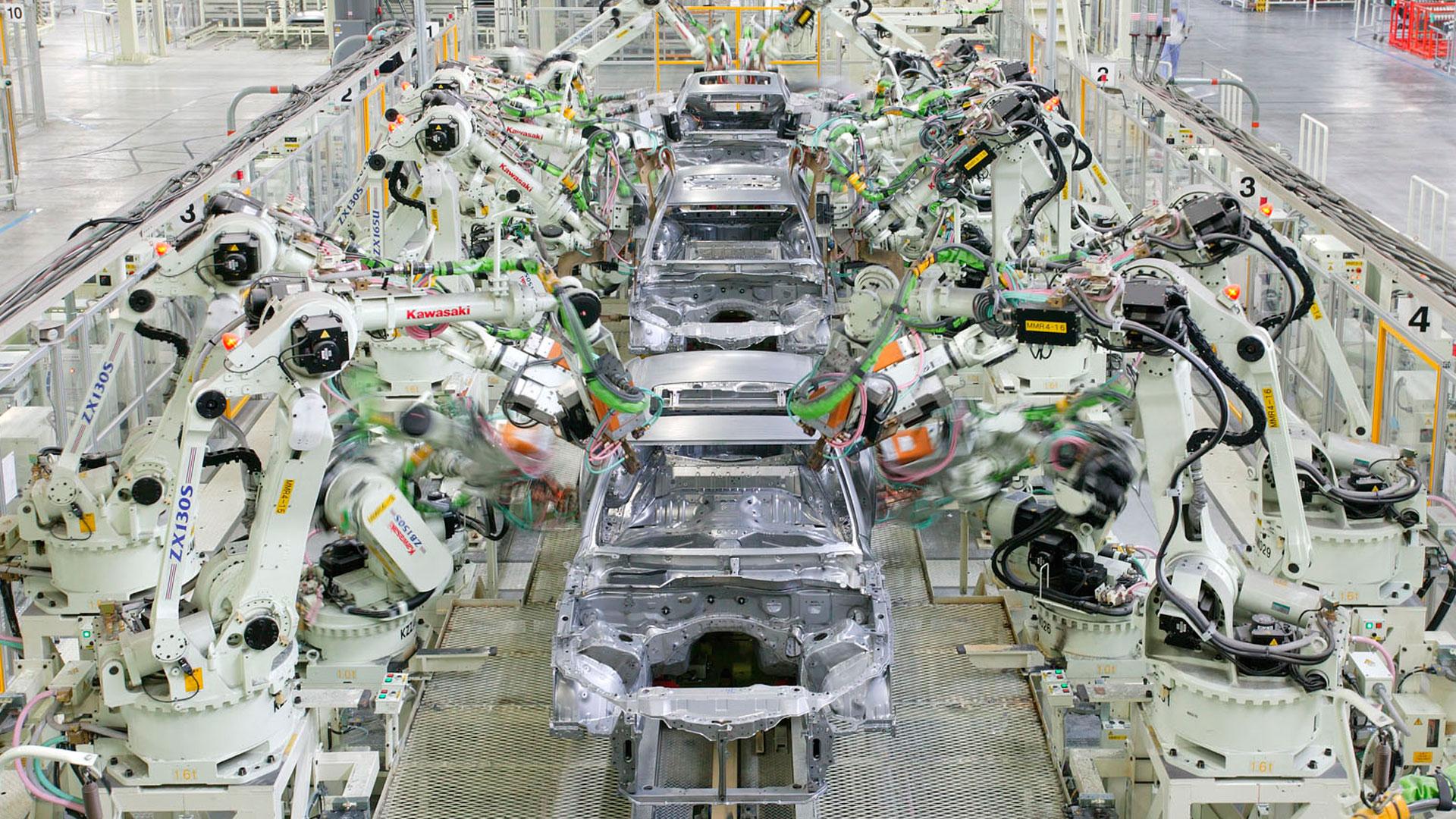 Imagen del proceso de fabricación de Lexus