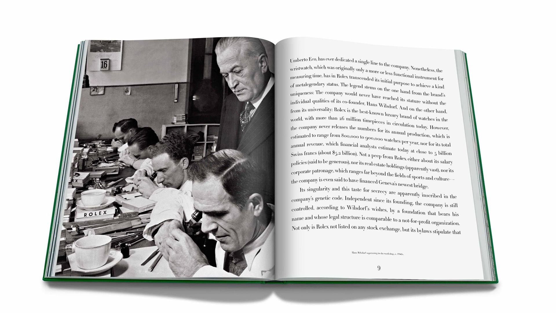 Imagen del libro de rolex con imagen y texto