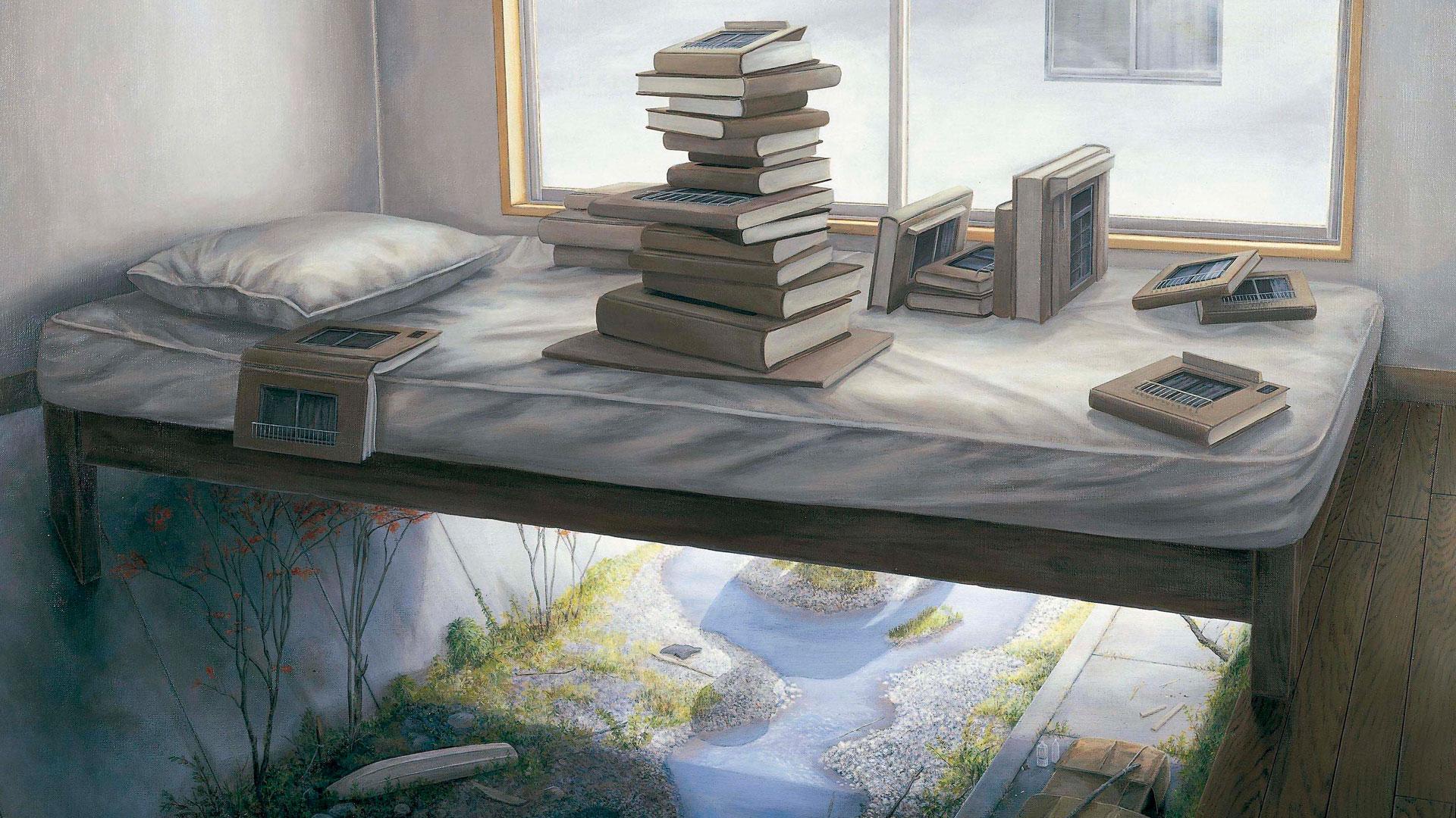 Imagen de un lienzo del pintor japonés Tetsuya Ishida