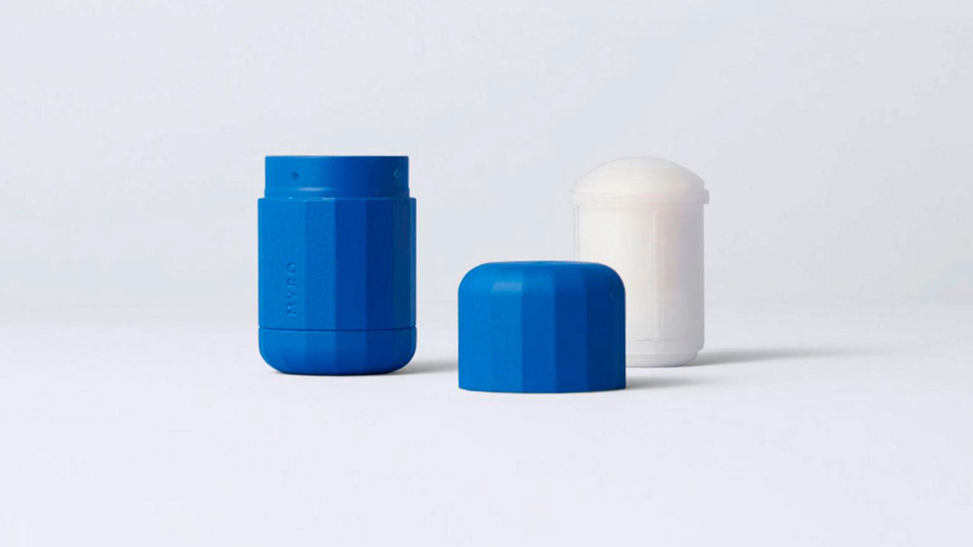 Imagen de la línea de desodorantes recargables de la marca Myro