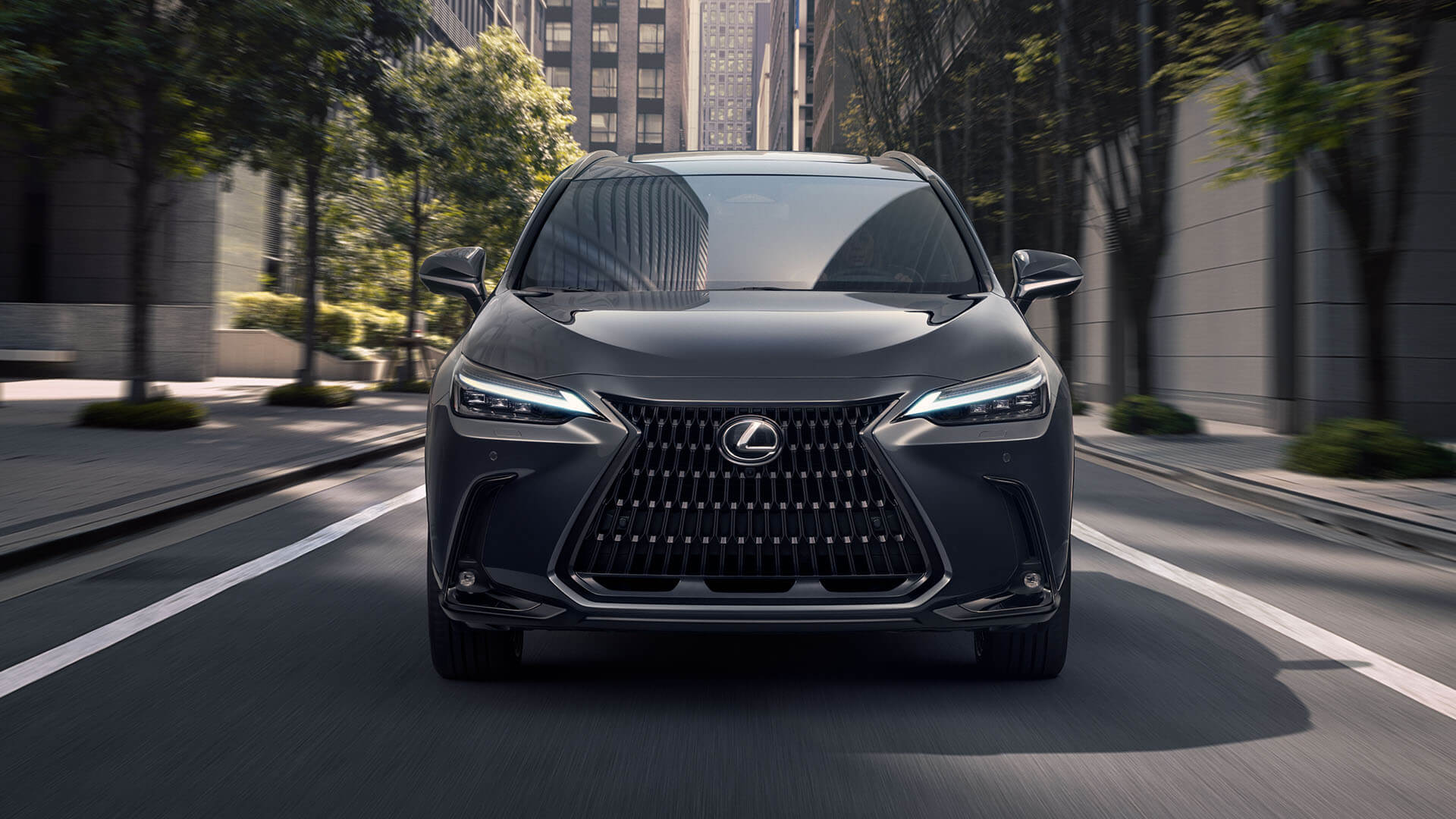 2021 lexus nx experience exterior front new signature grille