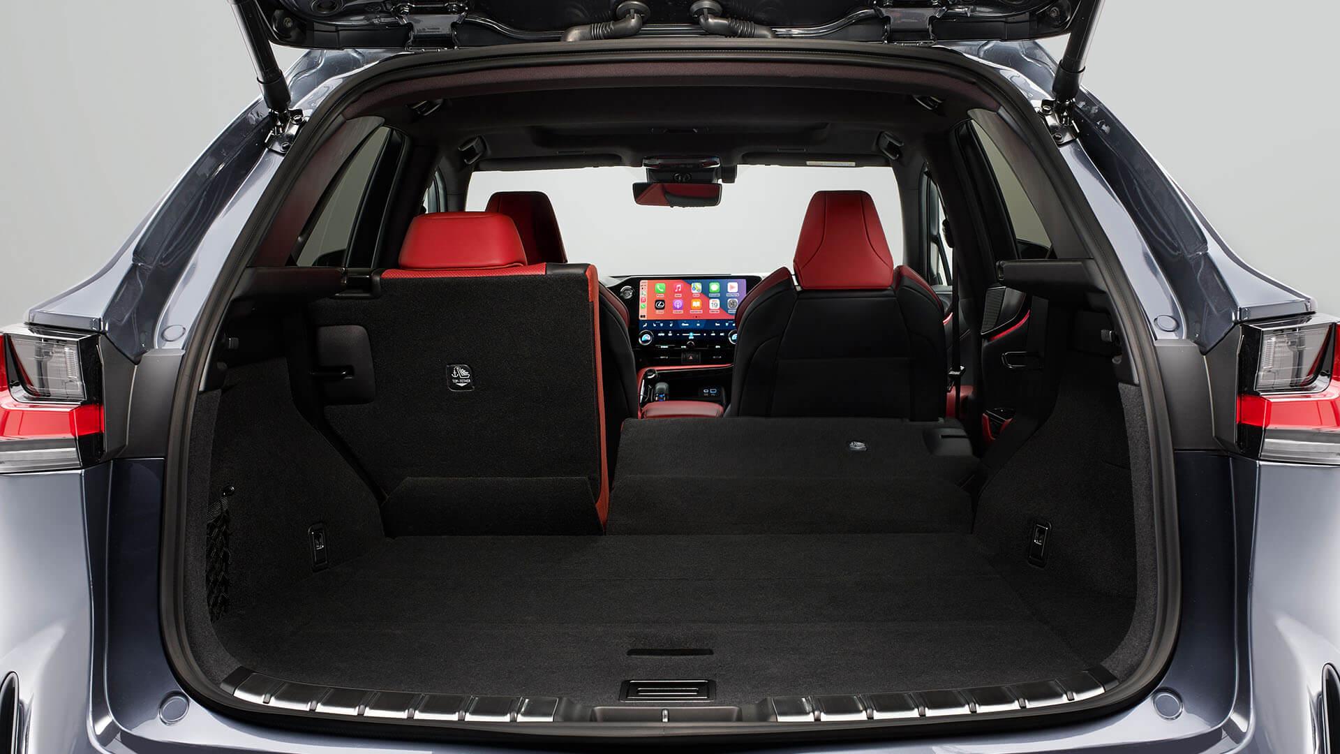 2021 lexus nx experience interior back flexible space