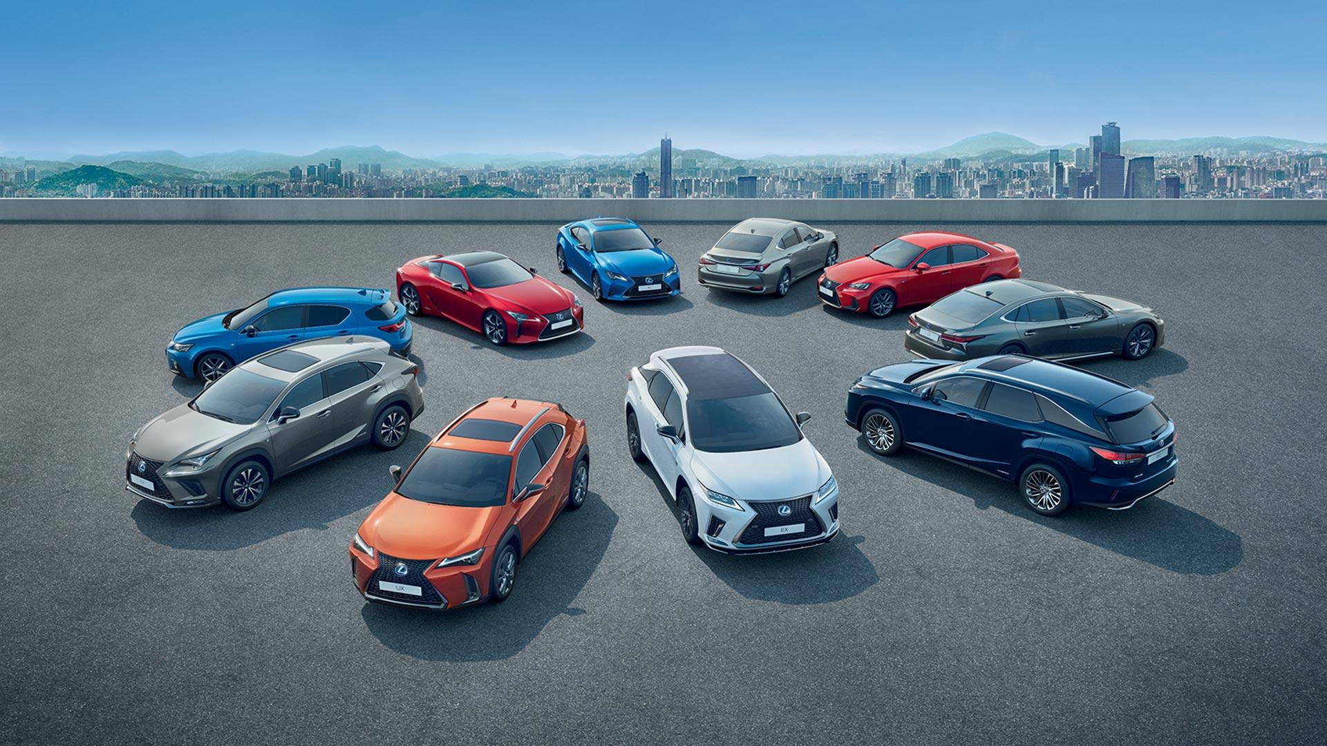 2020 lexus hybrid range