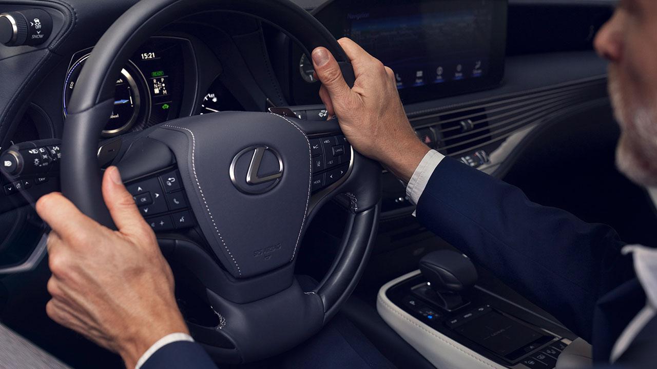 2020 lexus ls experience leather steering wheel