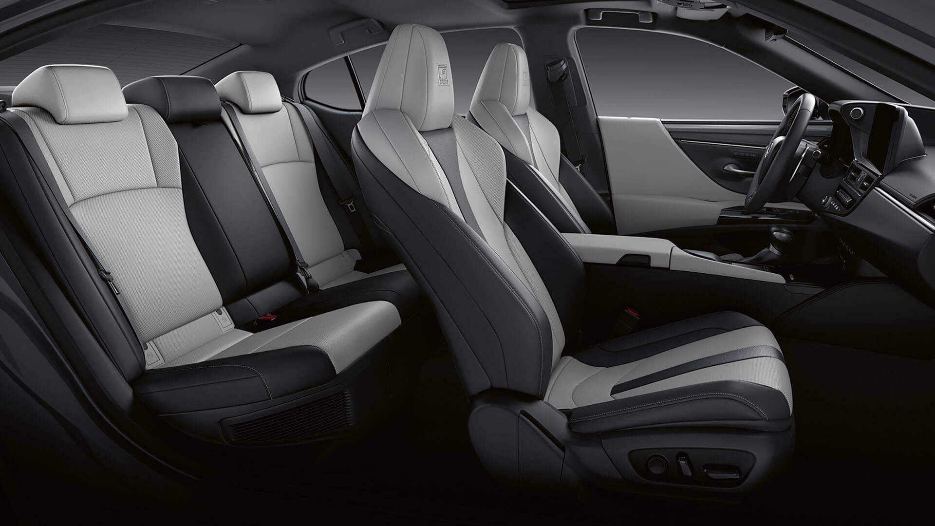 2022 lexus es experience interior front 16 way leather seats