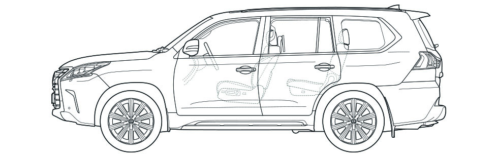 LX Side Dimensions