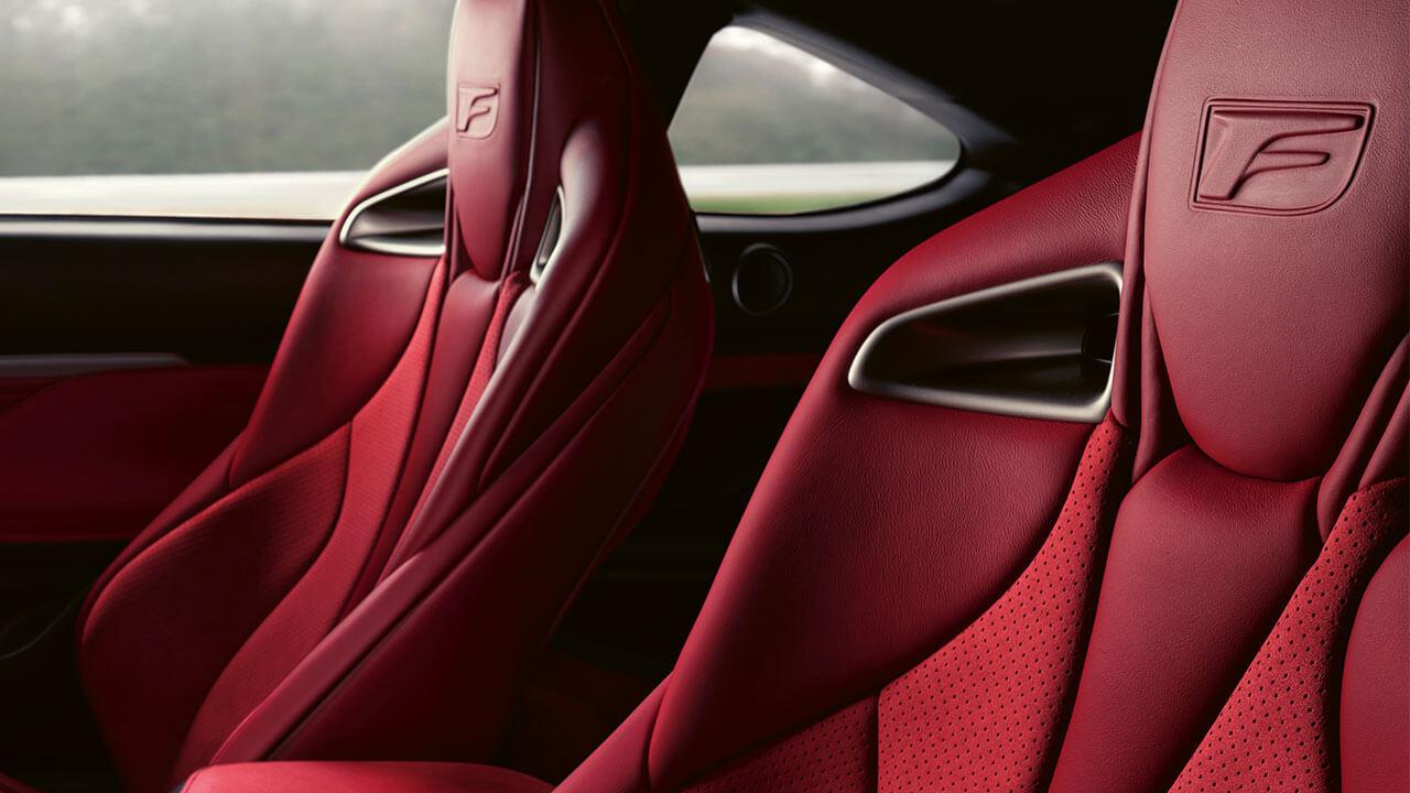 2021 lexus rc f experience hotspot interior leather sports seats