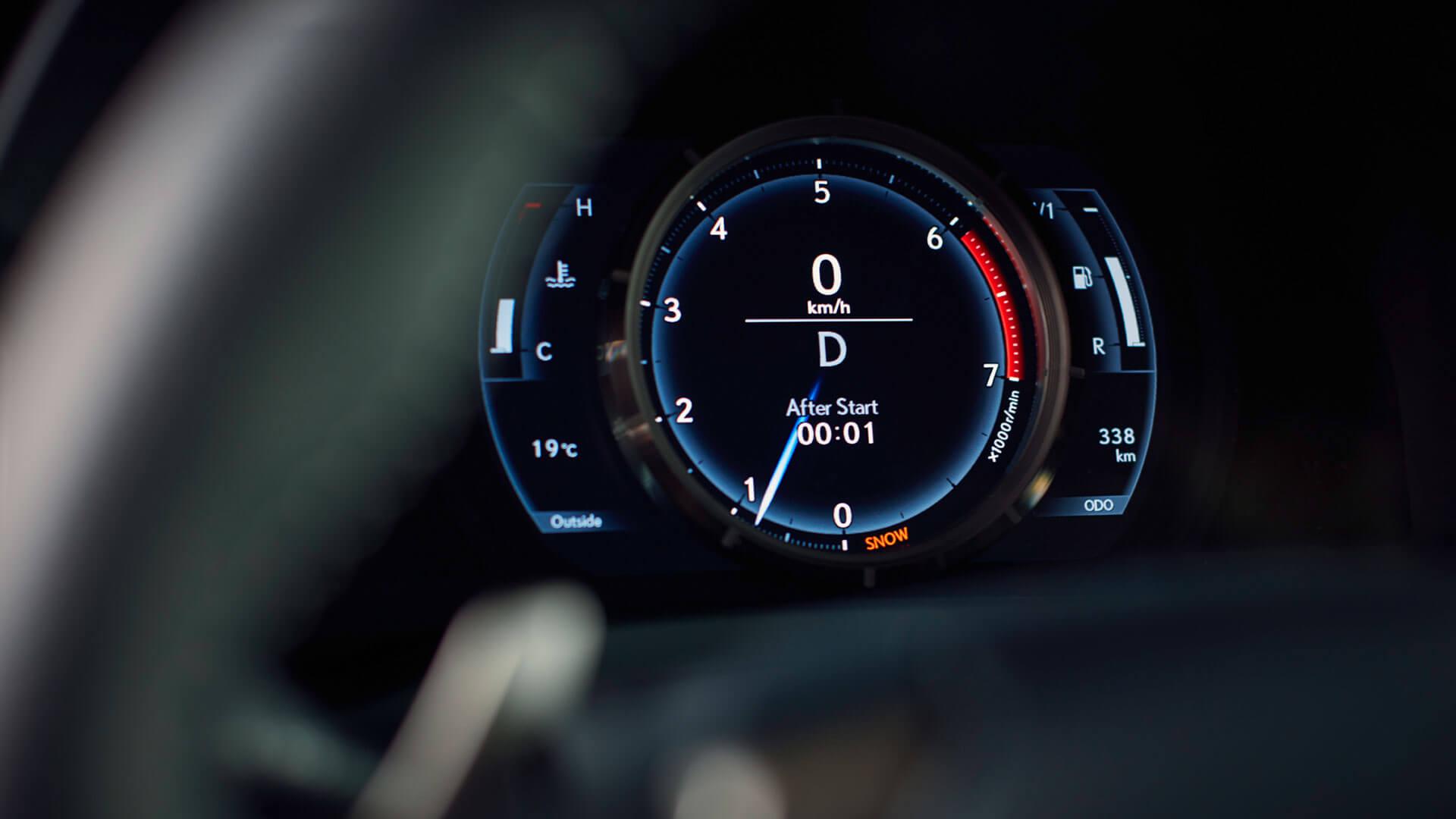 Dashboard van een Lexus