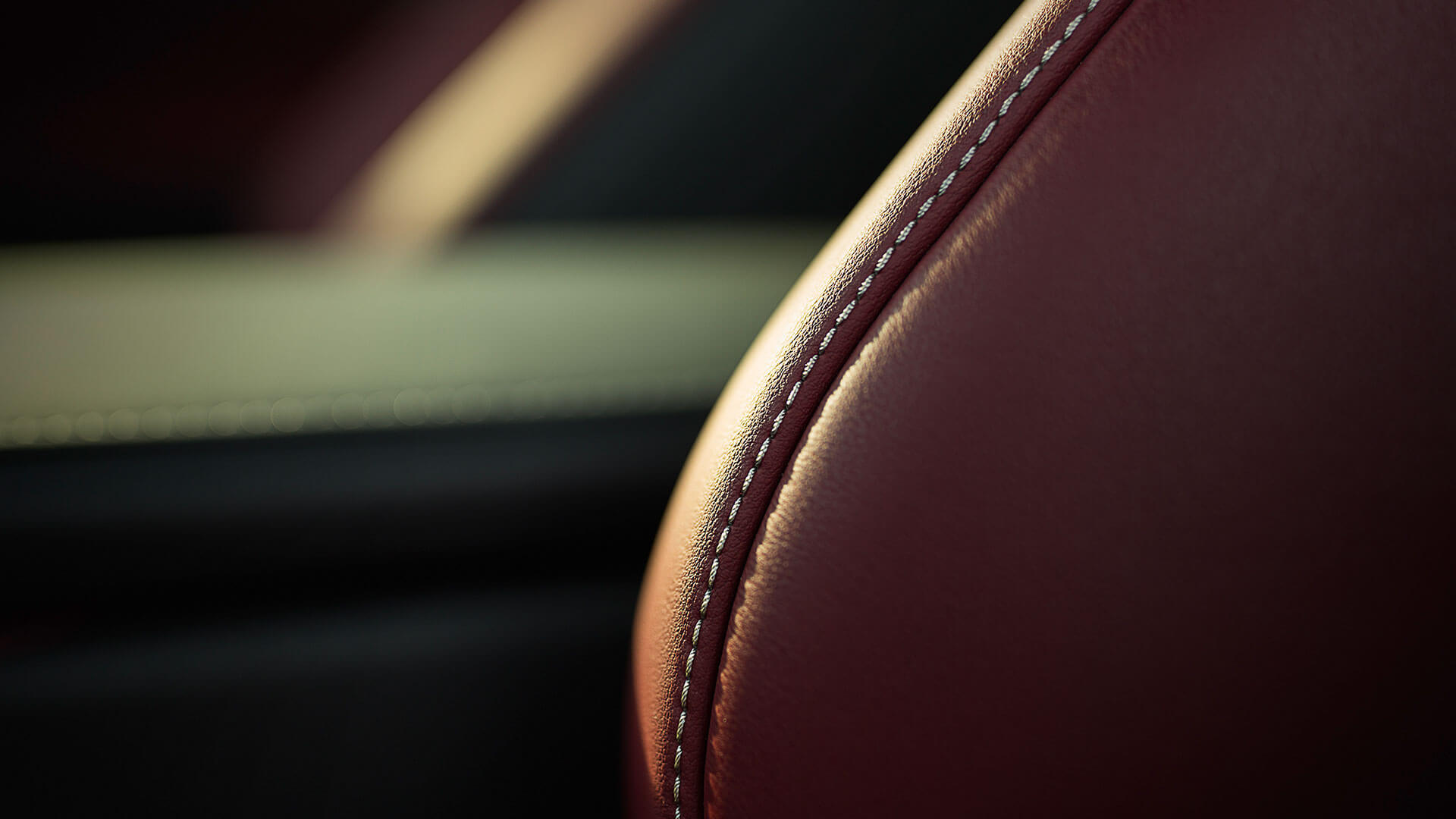 Bekleding van een stoel in een Lexus LC 500h