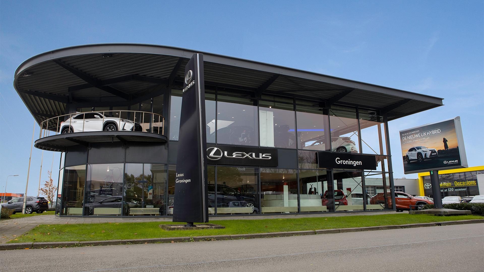 Afbeelding van het pand van Lexus Groningen