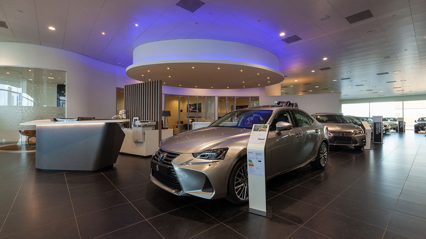 Showroom van Lexus Amsterdam