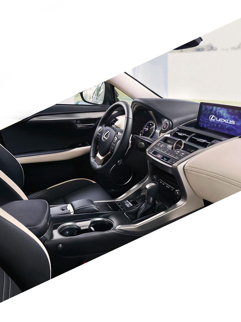 Interieur van een Lexus IS