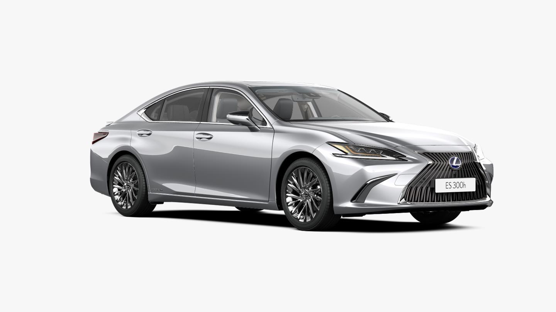 Vooraanzicht grijze Lexus ES 300h Executive Line