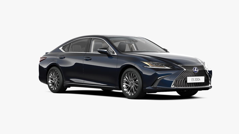 Vooraanzicht donker blauw Lexus ES 300h President Line
