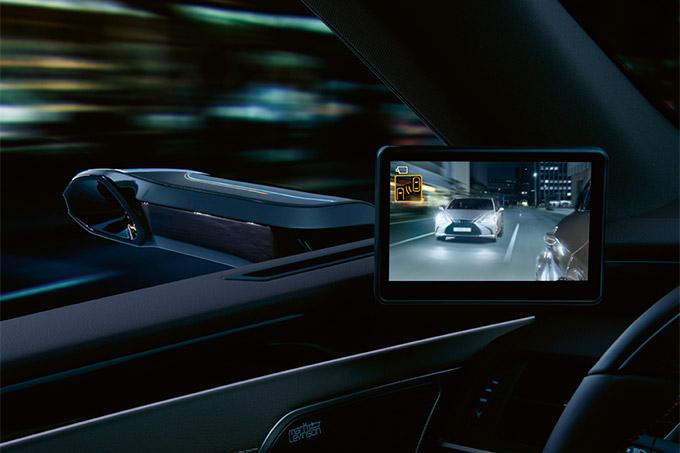 2020 006 digitale buitenspiegels voor Lexus ES IMG3 referentielijnen