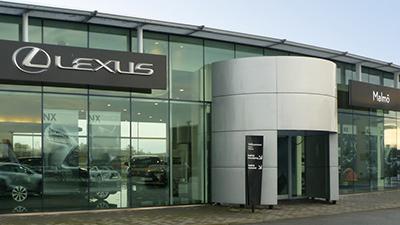 Lexus Malmö entrance