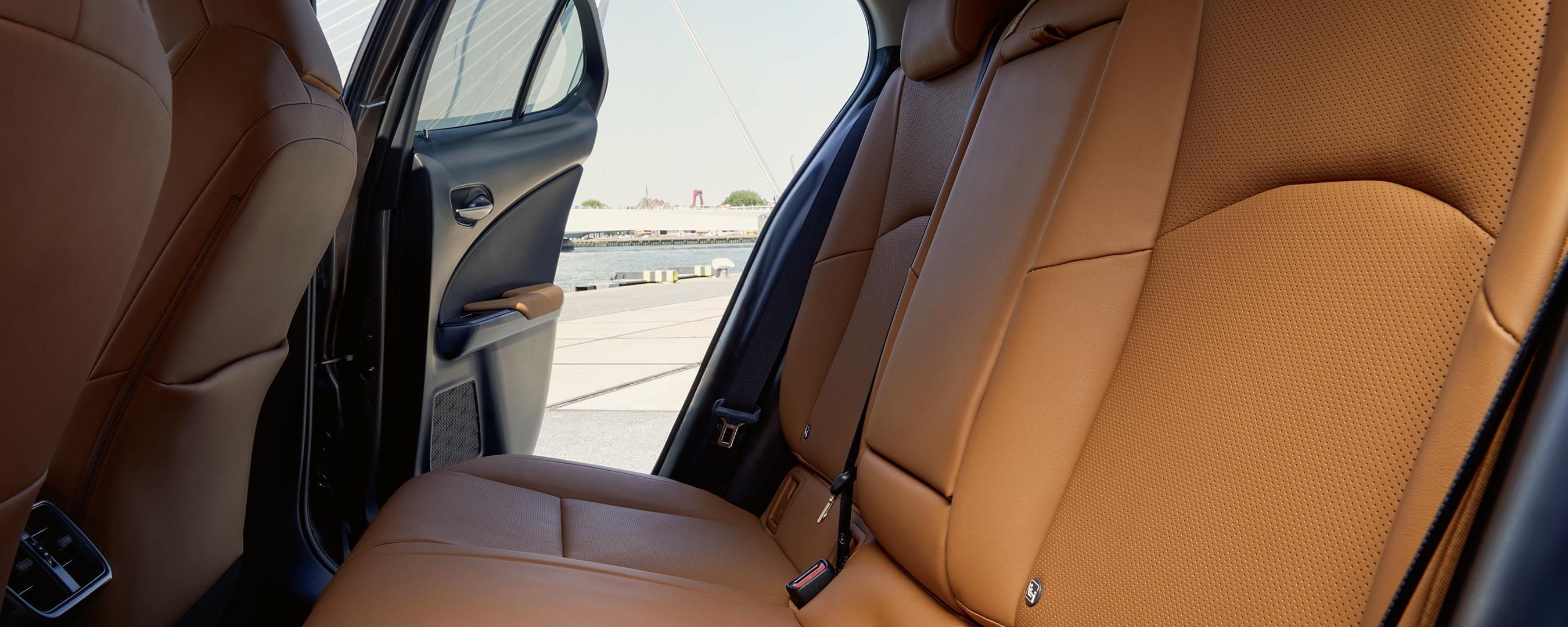 2020 lexus ux ev experience interior back