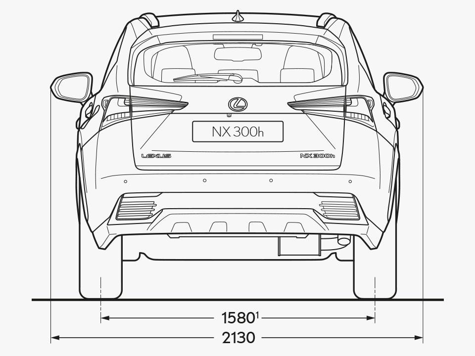 2021 lexus nx grades and specs dimensions rear