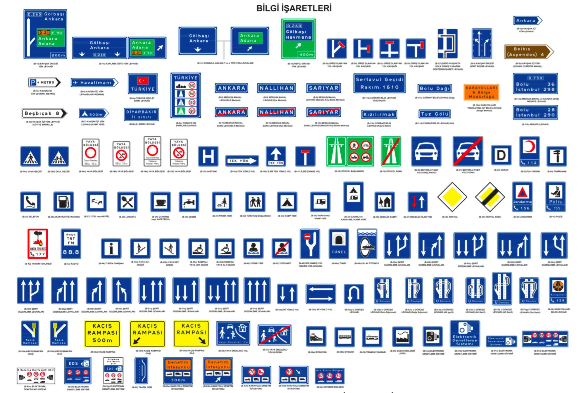 Güvenli Sürüş için Trafik Levha ve Anlamları 1997x1005 03 Levha